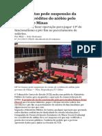 MP de Contas Pede Suspensão Da Venda de Créditos Do Nióbio Pelo Governo de Minas