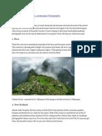 Top 10 Destinations for Landscape Photography