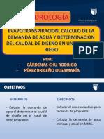 HIDROLOGÍA SESION 8 Y 9.pptx