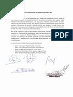 Acta de Instalación Del Comité Electoral 2015