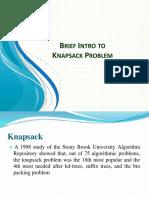 Knapsack Problem Intro