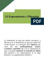 Espesamiento y Filtración