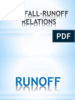 RAINFALL-RUNOFF RELATION