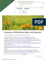 Calendar of 2019 Ritual Dates and Symbols – Ritual Abuse
