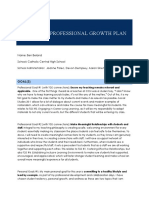 teaching professional growth plan for psiii - for port