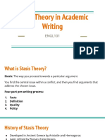 stasis theory in academic writing - student slides  3