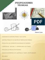 Tecnicas y especificaciones para calidad