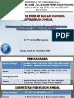 Sosialisasi Amdal Jetti Muara Bengkulu 2019