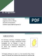 Clase 17; EME Krigeado (3)