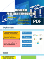 Técnica de Procesamiento de Datos