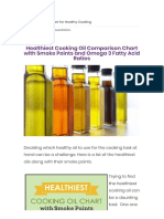 Healthiest Cooking Oil Comparison Chart With Smoke Points and Omega 3 Fatty Acid Ratios