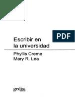 CREME Phyllis Y LEA Mary R - Escribir En La Universidad (1).pdf