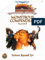 AD&D 2nd Edition - Dark Sun - Monstrous Compendium - Appendix II - Terrors Beyond Tyr.pdf