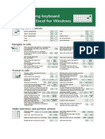 Microsoft Excel Shortcuts Official Quick Reference Sheet