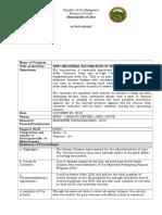 Post Activity Report - Anti-Flu Vaccination