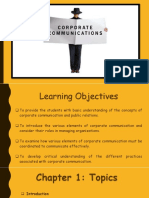 COPRPORATE COMMUNICATION MODULE 1