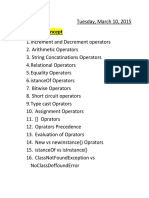 Operator Concepts
