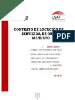 Contrato de Locacion de Servicios - Obra - Mandato