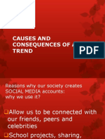CAUSES AND CONSEQUENCES OF A TREND