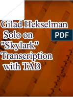 Gilad Hekselman Solo on Skylark transcription with TAB