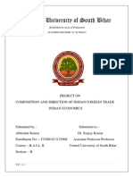 Economics Project Compostion and Direction of Indian Foreign Trade