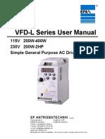 DELTA VFD-L Quickstart Manual