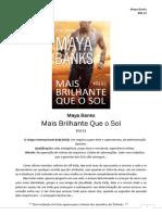 Maya Banks - KGI 11 - Mais Brilhante Que o Sol
