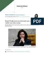Raquel Dodge processa internauta que a chamou de 'cadela' nas redes sociais - 07_09_2018 - Mônica Bergamo - Folha.pdf