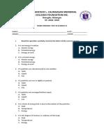 Third periodical examination