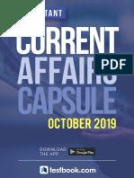 October  Current Affairs - PDF