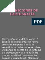 Definiciones de Cartografía1