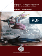 Asesinato de Cordova y Juicio Contra Hand. Dos Cartas Ineditas de Rupert Hand. Mario A. Llano. 2019