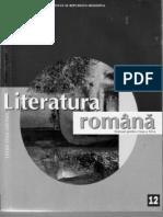 Literatura Romana XII-A