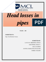 Experiment 4 Head Losses in Pipes