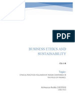 BUSINESS ETHICS AND SUSTAINABILITY