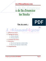 Travaux de Fin d'Exercice - Les Stocks