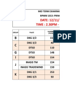 MID SEM TIME TABLE BPMM 1013 AND EXAM VENUE.xlsx