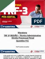 Carolina Carvalhal-Maratona TRF 3 - Técnico Administrativo Direito Processual Penal