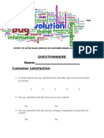 TOYOTA QUESTIONAIRE 1