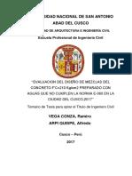 Evaluacion Del Diseño de Mezclas Del Concreto Levantamiento de Observaciones