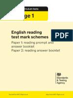 Ks1 English 2018 Marking Scheme Reading