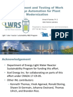 Development and Testing of Work Package Automation for Plant Modernization