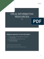 (2) Drug Information Resources