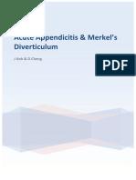 Acute Appendicitis & Merkel's Diverticulum
