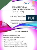 Vaksinasi HPV Dan IVA_Dr. Junita Indarti FINAL
