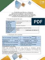 Guía de actividades y rúbrica de evaluación - Paso 2- Estado del arte, planteamiento del problema  y formulación del problema de investigación (1).docx
