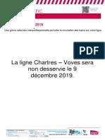 Info Trafic Chartres-Voves Du 09.12.2019