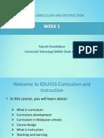 EDU555 Curriculum And Instruction Week 1.ppt