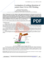 Experimental Investigation of welding distortion-Research Paper