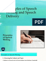 05 Principles of Speech Writing and Speech Delivery